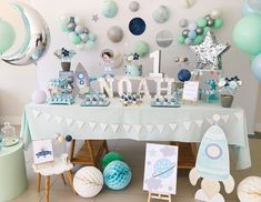 visit our website for the latest home decor trends . First Birthday Decorations Boy, Boys First Birthday Party Ideas, Boy Birthday Parties, October Baby Showers, Space Baby Shower, Astronaut Party, Space Party, Bathroom Flooring, Kiwi