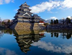 One of the real treasures of living in Japan are sights like this, Matsumoto Castle. It one of the treasures of Japan. I really worked to get the color right on this composite photo. It was beautiful morning loaded with color. Beautiful Morning, Mount Everest, Castle, Japan, Mountains, Architecture, World, Travel, Places