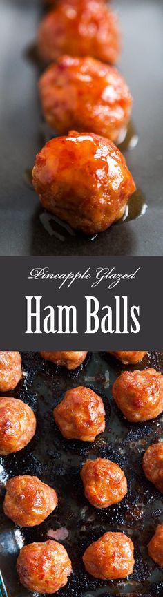 ... pizza balls pineapple glazed ham balls pineapple lei glazed ham balls