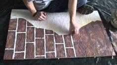 Painting fake brick and plaster walls, via YouTube.