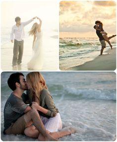 Engagement Photos on the Beach! on itsabrideslife.com