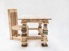 sillas madera reciclada hechas a mano por encargo acabado