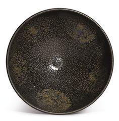 A BLACK-GLAZED 'OIL-SPOT' BOWL. NORTHERN SONG / JIN DYNASTY