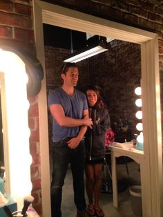 """""""Me and @Matt_Morrison on the #Glee set today! Only 2 more days left.. #GleeGoodBye ❤️"""""""