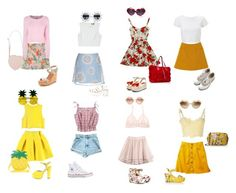 Nymphet spring by rabbitcult on Polyvore featuring polyvore, fashion, style, MSGM, H&M, Ermanno Scervino, StyleNanda, Hanky Panky, Dolce&Gabbana, Converse, Kate Spade, Nly Shoes, Valentino, ASOS, RETROSPECS, Lipsy, Moschino Cheap & Chic, vintage and clothing