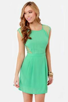 be788402dc My Good Sides Seafoam Green Lace Dress - Fashion Events - chic-finder.com