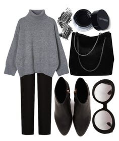 """""""black all day"""" by flawless-willie ❤ liked on Polyvore featuring Acne Studios, Alexander Wang, Gucci, Prada and Illamasqua"""