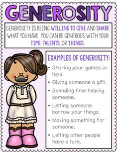 Generosity Scoot Game For Character Education Lessons Generosity Scoot Game by CounselorChelsey Character Education Lessons, Social Skills Lessons, Teaching Social Skills, Social Emotional Learning, Kids Education, Teaching Kids, Kids Learning, Physical Education, Elementary School Counseling