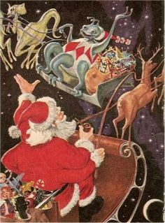 Science Fiction Christmas Art: Hillman Nostalgia Christmas