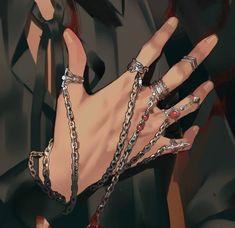 Hunter Anime, Hunter X Hunter, Hand Jewelry, Cute Jewelry, Aesthetic Clothes, Aesthetic Anime, Leorio Hxh, Mode Grunge, Grunge Jewelry