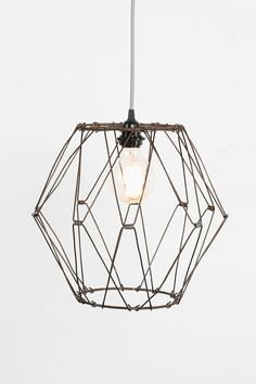 Convertible wire pendant shade. #urbanoutfitters