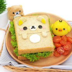 Rilakkuma & Kiiroitor sandwich