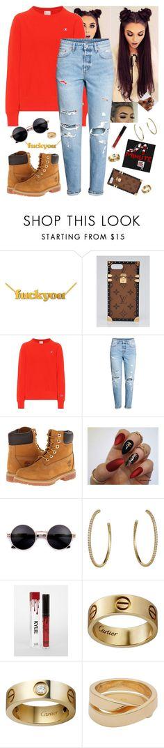 """""""싫어 - 포미닛 (4Minute)"""" by niih-malik69 on Polyvore featuring moda, Louis Vuitton, Champion, H&M, Timberland, Cartier, kpop, hate, hyuna e 4minute"""