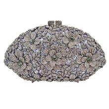 Berühmte Marke grau Strass handtasche Frauen Hochzeit Abendtasche Hochzeit Handtasche Paket Bankett Kupplung 88386 //Price: $US $93.00 & FREE Shipping //     #dazzup