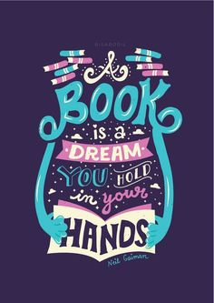 35 Beautiful Brightly Colored Typography & Retro Lettering by Risa Rodil I Love Books, Good Books, Books To Read, My Books, The Words, Reading Quotes, Book Quotes, Library Quotes, Bookworm Quotes