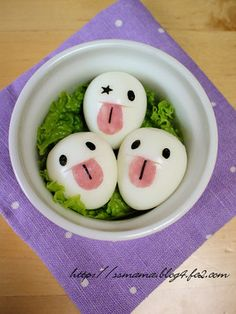 Sassy eggs with ham tongue