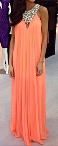Chiffon prom dress, simple prom dress