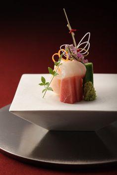 """Kamachi - toho, tuna sashimi. #plating #presentation"
