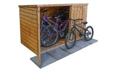 Groupon Goods Global GmbH: Wooden Bike Store With Free Delivery Timber Roof, Roofing Felt, Bike Shed, Secure Storage, Wooden Sheds, Bike Store, Tool Sheds, Wooden Garden, Shed Plans