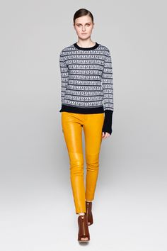 YELLOW leather pants from A.L.C. for Resort 2013. Yes, please.
