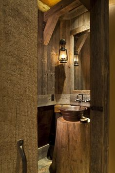 so adorable!! Garage bathroom or man cave?
