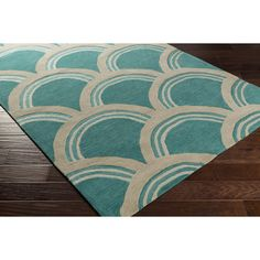 Found it at Joss & Main - Holden Sienna Teal/Ivory Area Rug