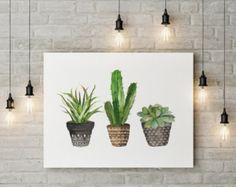 Cactus tú y yo | Cactus de San Valentín | Acuarela cactus | mano de tipografía Letras acogedora decoración arte de pared para imprimir  16 x 20 imprimir fácilmente reducido a 8 x 10.  HECHO CON AMOR ♥  Comprar 2 obtener 1 gratis! Código de cupón: FREEBIE  ____________________________  Imprimir tantas veces como quieras, bien para uso personal y pequeño comercial.  -------------------------------------------------------------------------------------- Después de confirmado el pago usted será…