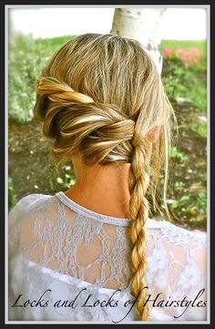 Bohemian twist.  If you twist the rest into a bun, it would work as an updo as well!