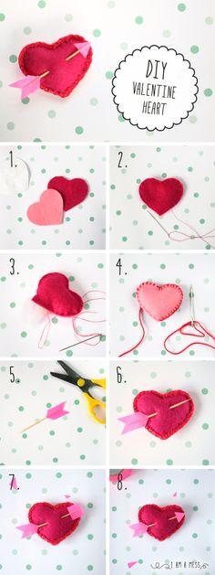 DIY Valentine's Day heart // DIY corazón de San valentín