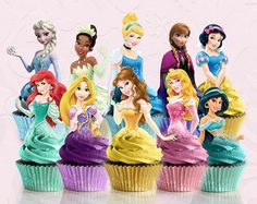 10 Pieces Disney Princess Birthday Goody Favor Glitter Tutu