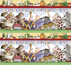 Hungry Animal Alphabet Picture Stripe