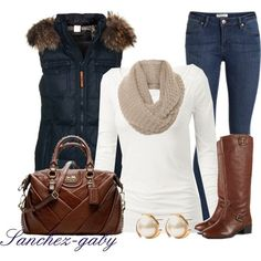 I am so a vest girl!! Simple and Casual Outfit Idea for 2015