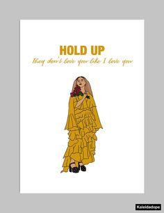 "FEATURED ON ESSENCE.COMs 20 Valentines Day Cards That Say It All  Cant you see theres nobody else above you?  A card for the one that can appreciate your love for them and Beyoncé....and who doesnt appreciate Beyoncé?! (rhetorical question)  DETAILS: - Each card is originally drawn, designed and/or illustrated - Card measures 5"" x 7"" on smooth matte white card stock - Blank Inside - Envelope included  SHIPPING: - Securely packaged in a plastic sleeve w/ cardboard backing in bubble m..."