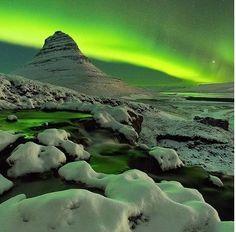 Solar storm, Kirkjufell, Snæfellsnes Peninsula, Iceland - Google zoeken