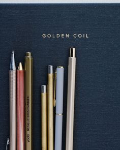 "Golden Coil's Instagram post: """"Today is your opportunity to build the tomorrow you want."" -Ken Poirot ⁠⠀ Here at Golden Coil we want to help you write out and achieve…"" Post Today, Brushed Metal, Markers, Opportunity, Desktop, Writing, Instagram Posts, Sharpies, Desk"