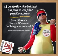 Que tal dar um presente diferente no DIA DOS PAIS? Faça diferente, faça a diferença: Dê Telegrama Animado!  *aceitamos cartão de crédito  #telegramaanimado #diadospais #presentepropai #artedatribo