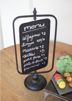 """DImensions: 10.5"""" x 7"""" x 24"""" Use this to display a menu, welcome guests, or share your chalk art!"""