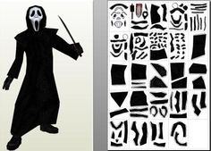 Halloween Special - Ghost Face Paper Model - by Paper Juke -- From the classic Horror Movie Scream, here is the Ghost Face, created by French designer Paper Juke.