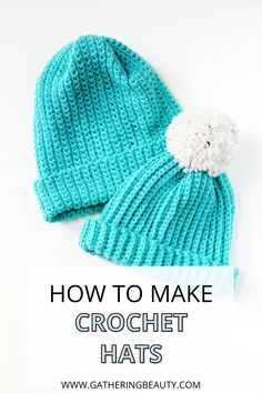 Are you looking for an easy crochet project for beginners? Yes, great, me too. I think these crocheted hats might be exactly we've been looking for. There's no complicated stitches or patterns, you don't need to be able to crochet in the round or increase or decrease stitches. All you need to do is crochet a simple rectangle.