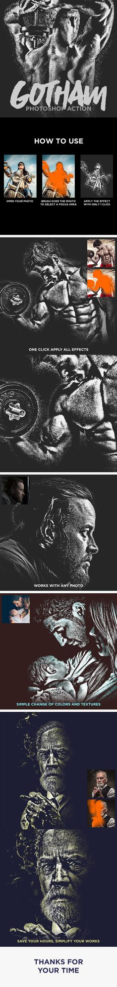Gotham - Photo Effect Photoshop Action. Download here: http://graphicriver.net/item/gotham-photoshop-action/16203348?ref=ksioks