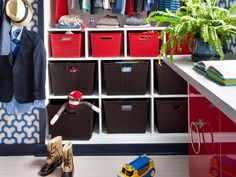 It can be done! Create organized toy storage in your kid's closet >> http://www.hgtvremodels.com/interiors/kids-closets-and-toy-storage/index.html?soc=pinterest#