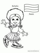Coloriage Enfants du Monde sur Hugolescargot.com