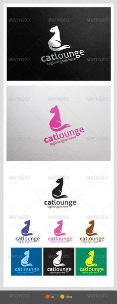 Cat Lounge	  Logo Design Template Vector #logotype Download it here: http://graphicriver.net/item/cat-lounge-logo-template/7771470?s_rank=87?ref=nexion