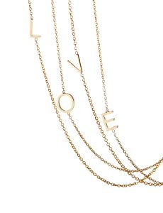 Maya Brenner Letter Necklace-  Need M & J double letter necklace