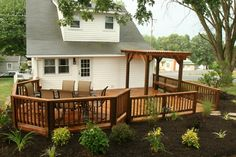 The Southern Porch Company: Sunrooms, Screened Porches, Decks . Small Back Porches, Decks And Porches, Front Porch Deck, Screened In Porch, Deck Railing Design, Patio Design, Southern Porches, Southern Living, Backyard Layout