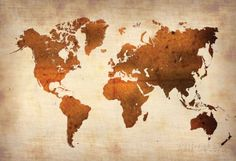 $80 canvas World Map 7 Posters at AllPosters.com