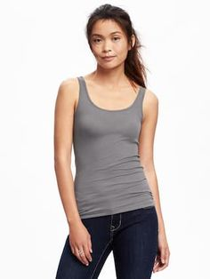 First-Layer Fitted Rib-Knit Tank