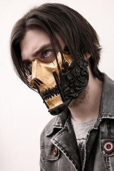 Cosplay mask is a very unique option for people to take a break from their daily routine life and convert into someone different yet exciting; for example any favorite movie character, anime, any video game character or someone you visualize to become. Cosplay Sword, Cosplay Weapons, Cosplay Costumes, The Raid, Mask Drawing, Skull Mask, Oni Mask, Scary Mask, Half Face Mask
