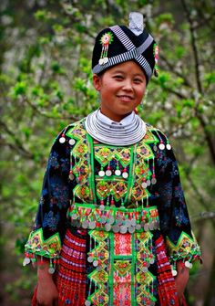 Kid with traditional costume in #Laos