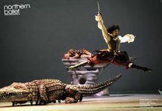 Production images of Peter Pan taken in 2010 by photographer Alastair Muir. Peter Pan Actor, Peter Pan Jr, Peter Pan Crocodile, James Hook, Ballet Shows, Jolly Roger, Captain Hook, Neverland, Wonder Woman